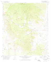 Stockton Pass Arizona Historical topographic map, 1:24000 scale, 7.5 X 7.5 Minute, Year 1972