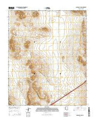Sugarloaf Peak Arizona Current topographic map, 1:24000 scale, 7.5 X 7.5 Minute, Year 2014