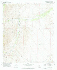 Telegraph Wash Arizona Historical topographic map, 1:24000 scale, 7.5 X 7.5 Minute, Year 1972