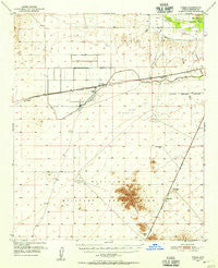 Theba Arizona Historical topographic map, 1:62500 scale, 15 X 15 Minute, Year 1950