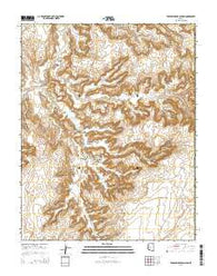 Toenleshushe Canyon Arizona Current topographic map, 1:24000 scale, 7.5 X 7.5 Minute, Year 2014