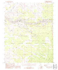 Toothpick Ridge Arizona Historical topographic map, 1:24000 scale, 7.5 X 7.5 Minute, Year 1988