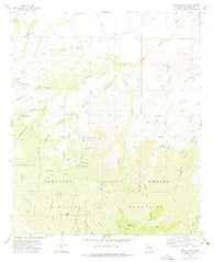 Tripp Canyon Arizona Historical topographic map, 1:24000 scale, 7.5 X 7.5 Minute, Year 1972