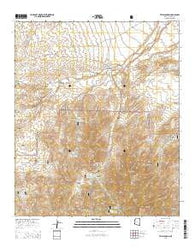 Tripp Canyon Arizona Current topographic map, 1:24000 scale, 7.5 X 7.5 Minute, Year 2014
