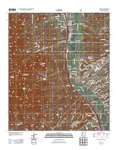 Tubac Arizona Historical topographic map, 1:24000 scale, 7.5 X 7.5 Minute, Year 2012