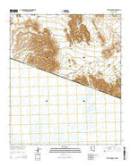 Tule Mountains Arizona Current topographic map, 1:24000 scale, 7.5 X 7.5 Minute, Year 2014 from Arizona Map Store