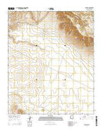 Tule Tubs Arizona Current topographic map, 1:24000 scale, 7.5 X 7.5 Minute, Year 2014 from Arizona Map Store