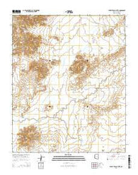 Turkey Track Butte Arizona Current topographic map, 1:24000 scale, 7.5 X 7.5 Minute, Year 2014
