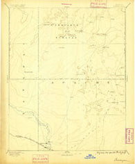 Tusayan Arizona Historical topographic map, 1:250000 scale, 1 X 1 Degree, Year 1886