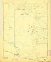 Tusayan Arizona Historical topographic map, 1:250000 scale, 1 X 1 Degree, Year 1883