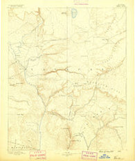 Verde Arizona Historical topographic map, 1:250000 scale, 1 X 1 Degree, Year 1887