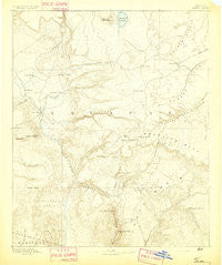 Verde Arizona Historical topographic map, 1:250000 scale, 1 X 1 Degree, Year 1892