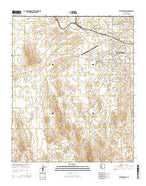 Vulture Peak Arizona Current topographic map, 1:24000 scale, 7.5 X 7.5 Minute, Year 2014 from Arizona Map Store