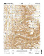 Walker Mountain Arizona Current topographic map, 1:24000 scale, 7.5 X 7.5 Minute, Year 2014 from Arizona Map Store