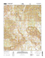 Walnut Grove Arizona Current topographic map, 1:24000 scale, 7.5 X 7.5 Minute, Year 2014 from Arizona Map Store