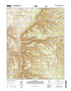 Warm Springs Canyon Arizona Current topographic map, 1:24000 scale, 7.5 X 7.5 Minute, Year 2014 from Arizona Map Store