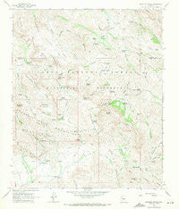 Weavers Needle Arizona Historical topographic map, 1:24000 scale, 7.5 X 7.5 Minute, Year 1966