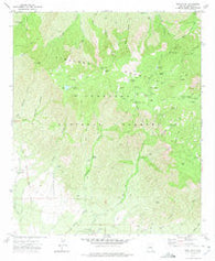Webb Peak Arizona Historical topographic map, 1:24000 scale, 7.5 X 7.5 Minute, Year 1972