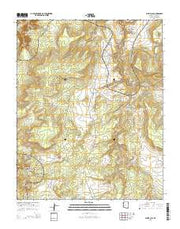 White Clay Arizona Current topographic map, 1:24000 scale, 7.5 X 7.5 Minute, Year 2014 from Arizona Maps Store