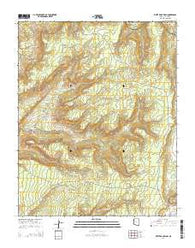 White Rock Wash Arizona Current topographic map, 1:24000 scale, 7.5 X 7.5 Minute, Year 2014