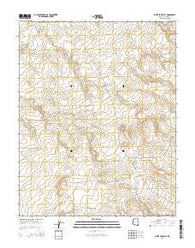 White Sage Flat Arizona Current topographic map, 1:24000 scale, 7.5 X 7.5 Minute, Year 2014