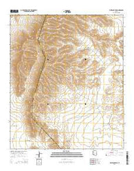 Whitlock Peak Arizona Current topographic map, 1:24000 scale, 7.5 X 7.5 Minute, Year 2014