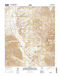 Wikieup Arizona Current topographic map, 1:24000 scale, 7.5 X 7.5 Minute, Year 2014