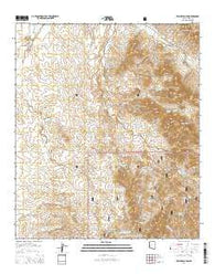 Wilbur Canyon Arizona Current topographic map, 1:24000 scale, 7.5 X 7.5 Minute, Year 2014