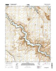 Wild Horse Mesa Arizona Current topographic map, 1:24000 scale, 7.5 X 7.5 Minute, Year 2014