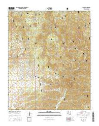 Wilhoit Arizona Current topographic map, 1:24000 scale, 7.5 X 7.5 Minute, Year 2014