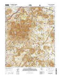 Williams South Arizona Current topographic map, 1:24000 scale, 7.5 X 7.5 Minute, Year 2014