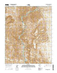 Willow Beach Arizona Current topographic map, 1:24000 scale, 7.5 X 7.5 Minute, Year 2014