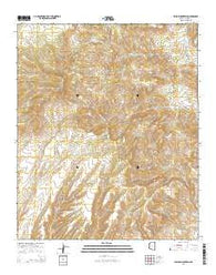 Willow Mountain Arizona Current topographic map, 1:24000 scale, 7.5 X 7.5 Minute, Year 2014