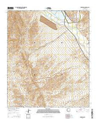 Winkelman Arizona Current topographic map, 1:24000 scale, 7.5 X 7.5 Minute, Year 2014