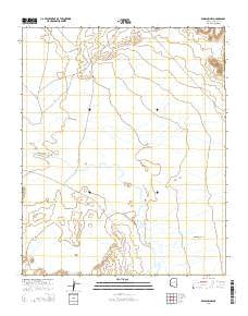 Winslow NW Arizona Current topographic map, 1:24000 scale, 7.5 X 7.5 Minute, Year 2014