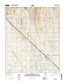 Wittmann Arizona Current topographic map, 1:24000 scale, 7.5 X 7.5 Minute, Year 2014