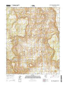 Wolf Hole Mountain West Arizona Current topographic map, 1:24000 scale, 7.5 X 7.5 Minute, Year 2014