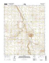Woodruff Arizona Current topographic map, 1:24000 scale, 7.5 X 7.5 Minute, Year 2014