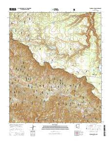 Woods Canyon Arizona Current topographic map, 1:24000 scale, 7.5 X 7.5 Minute, Year 2014