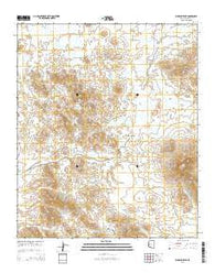 Woolsey Peak Arizona Current topographic map, 1:24000 scale, 7.5 X 7.5 Minute, Year 2014