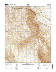 Yampai Arizona Current topographic map, 1:24000 scale, 7.5 X 7.5 Minute, Year 2014