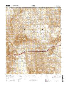 Yampai SE Arizona Current topographic map, 1:24000 scale, 7.5 X 7.5 Minute, Year 2014