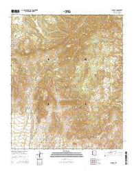 Yarnell Arizona Current topographic map, 1:24000 scale, 7.5 X 7.5 Minute, Year 2014