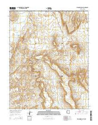Yellowhorse Flat Arizona Current topographic map, 1:24000 scale, 7.5 X 7.5 Minute, Year 2014