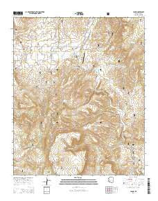 Young Arizona Current topographic map, 1:24000 scale, 7.5 X 7.5 Minute, Year 2014