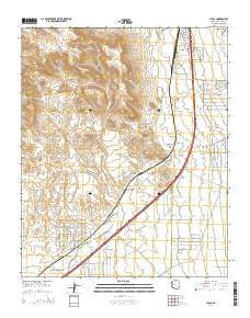 Yucca Arizona Current topographic map, 1:24000 scale, 7.5 X 7.5 Minute, Year 2014