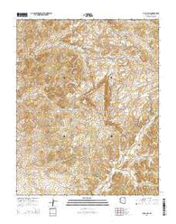 Yucca Hill Arizona Current topographic map, 1:24000 scale, 7.5 X 7.5 Minute, Year 2014