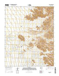 Yucca NE Arizona Current topographic map, 1:24000 scale, 7.5 X 7.5 Minute, Year 2014