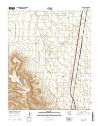 Yucca NW Arizona Current topographic map, 1:24000 scale, 7.5 X 7.5 Minute, Year 2014