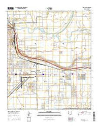 Yuma East Arizona Current topographic map, 1:24000 scale, 7.5 X 7.5 Minute, Year 2014